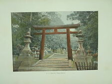 LE JAPON Paysages et Monuments PHOTOGRAVURE TORI d'un temple SHINTO