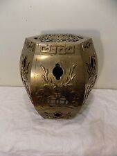 Vintage Asian Chinese  Brass Garden Stool Seat Side Table