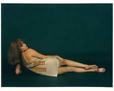 JACQUELINE BISSET Lingerie Photo SEXY BARE LEGS Hot Glamour Model BAREFOOT Rare