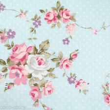 """By The Yard 100% Cotton Fabric Blue Dot Floral Pattern Sewing K 44""""x36"""" K f-117"""