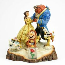 "Disney Tradition  ""LA BELLA E LA BESTIA"" Design di Jim Shore, H 19,7 cm ""NUOVO"""
