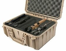 TAN Seahorse SE630FP4.  4 Handgun case with foam & Pelican- 1450 TSA lock