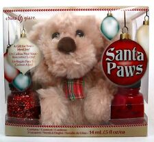 CHINA GLAZE SANTA PAWS 3-PC POLISH SET Pure Joy & Red Satin FREE Stuffed Dog NIB
