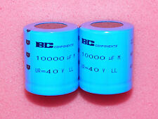 2 x 10000uF 40V BC/Philips 058 Series Long Life Snap-in Electrolytic Capacitors