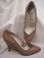 Gently Used Caressa Tan Leather Stiletto Pumps 6M L@@K!! Made in SPAIN