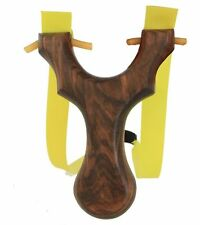 NEW HOT Theraband Slingshot Catapult Wood Hunting Rubber Band Bungee Bloodshot
