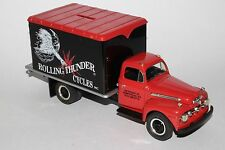 First Gear Coin Bank, 1951 Ford Truck Rolling Thunder Cycles