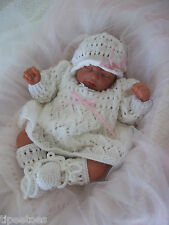 Baby Knitting Pattern DK 21 TO KNIT Girls or Reborns Dress Hat Bootees Reborns