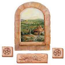 Tuscan Wall Mural Winery Grape Vines View Add A Window! Tuscany Grapes Sticker