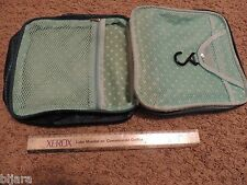 MARY KAY COSMETIC BAG TRAVEL CASE TOTE consultant travel bag TEAL ZIPPER RARE