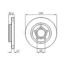 SATZ 2x BOSCH Bremsscheibe AUDI A8 (4D2 4D8)