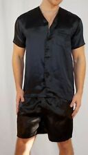 MEN'S LUXE BLACK 100% SILK PAJAMA  SLEEP TOP SIZE: SMALL $95.00!