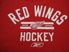 NHL Detroit Red Wings National Hockey League Fan Reebok Apparel Red T Shirt L