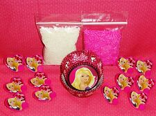 Barbie,Cupcake Kit,Rings,Sprinkles,Bake Cups,Wilton,Pink/White,Party,415-6065
