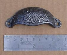 1 CAST IRON ORNATE DESIGN VICTORIAN CABINET FURNITURE  83MM CUP HANDLE 004.0103