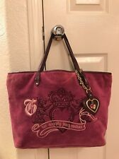 Juicy Couture Purple Velour Her Majesty Tote Shoulder Handbag