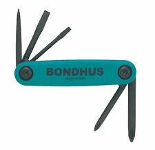 Bondhus 12545 GorillaGrip Utility Fold-up Set, Phillips, Slotted, and Awl