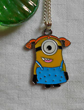 Kids childrens girls boys necklace Minions Despicable Me silver plated + enamel