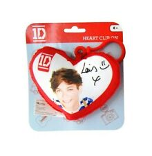 ONE DIRECTION 'LOUIS' PLUSH HEART SHAPED BACKPACK CLIP SCHOOL BAG RUCKSACK P+P