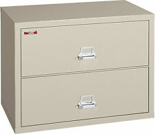 """FireKing Office Fireproof Two Drawer Lateral File 44""""""""W Pewter - FIR2S4422CPEML"""