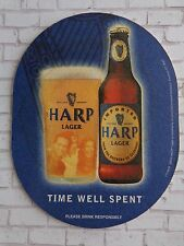 Beer Drink Coaster ~ HARP Lager ~ Time Well Spent ~ From the Brewers of GUINNESS