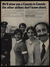 1970 AIR CANADA Airlines Pilot- Captain - Stewardess - Employees - VINTAGE AD