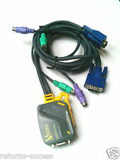 Newlink PS/2 Micro de 2 vías con cables KVM nlkvmp 2PC