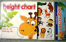 Giraffe Height Chart BNIP With 40 Stickers Jungle Animals Theme