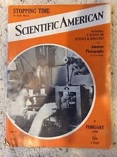 Scientific American February 1940, Articles on Photography, Stopping Time, Maps,