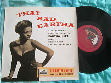 "Eartha Kitt ‎–That Bad Eartha His Master's Voice ‎DLP 1067 UK 10"" Vinyl LP album"