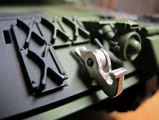 HL Bundeswehr Leopard 2A6 Zughaken Haken Metall Umbau Kit RC Panzer Zubehör 1/16