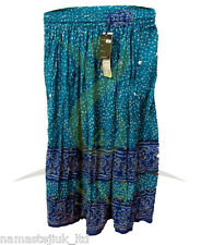 Bohemian Long Skirt Gypsy Boho Hippy One Size Sequin Skirts Elastic Drawstring