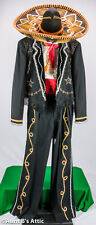 3 Amigos Suit 5Pc Hand Decorated Tuxedo Mexican Charro Mariachi Cinco De Mayo 44