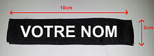 PATCH VELCRO NOIR - NOM - TAG PSEUDO Airsoft NAVY SEAL POLICE US ARMY PAINTBALL