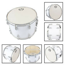 New MBAT Stainless Steel & Wood Marching Snare Drum Drumstick Percussion Silver