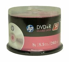 50 HP branded DVD+R DL 8X 8.5GB 240 minute New (FREE PRIORITY MAIL shipping)