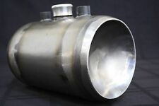Harley Chopper / Bobber Oil Tank, Tinworks inc 6 in round steel KEGGED ENDS