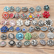 wholesale 10pc/lot 18mm Interchangeable metal Buttons Snap Charms chunk Jewelry
