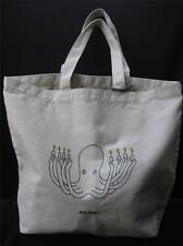 JACK SPADE TOTE BIG CANVAS TOTE NATURAL KHAKI BAG W/ OCTOPUS GRAPHIC NWT