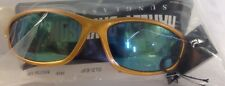 HARLEY DAVIDSON GOLD SUNGLASSES WITH HD SCRIP ACCENTS MOTORCYCLE BIKER  * NIP *