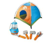 Little Explorer Camping Tent & Tools Toy Gear Play Set for Kids With Lantern New