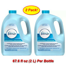 2 Pk Febreze Value Refill 67.6 oz Extra Strength Original Scent Fabric Refresher