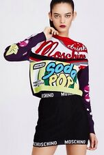 Moschino Couture & Jeremy Scott Jumper Drink Pop Soda M UK 12 100% Gift Idea