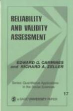 Reliability and Validity Assessment (Quantitative Applications in the Social Sc
