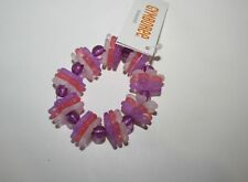 New Gymboree Purple Pink & White Flower Stretch Bracelet NWT Cherry Blossom Line