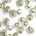Bright Silver Filled .925 Crimp Bead Knot Round Cover