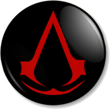 "Assassins Creed Symbol Black 25mm 1"" Pin Button Badge XBOX 360 PS3 Video Game"