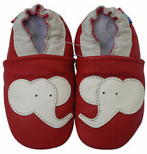 carozoo elephant red 2-3y C1 soft sole leather toddler shoes