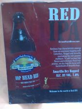 BREWERIANA BAR SIGN TIN RED IPA FINE HAND-CRAFTED ALES WORLD BEER CUP GOLD AWARD
