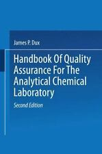 Handbook of Quality Assurance for the Analytical Chemistry Laboratory by J....